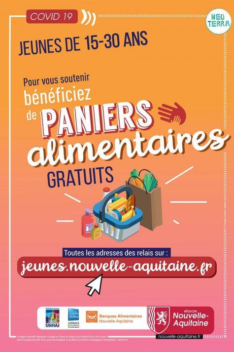 Paniers aide alimentaire COVID- Région Nouvelle-Aquitaine